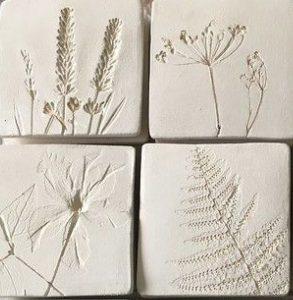 lastre ceramica impronte foglie